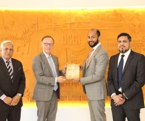 The Netherlands Ambassador called on DCCI President